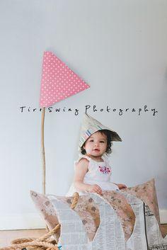 diy sail boat prop child photography