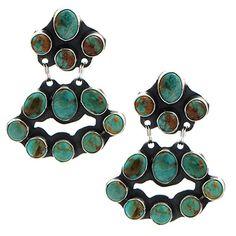 Rocki Gorman Green Turquoise Mini Chandelier Earrings at Maverick Western Wear
