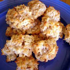 Easiest Macaroon Recipe - 5 ingredients.     flour, coconut, salt, condensed milk, vanilla