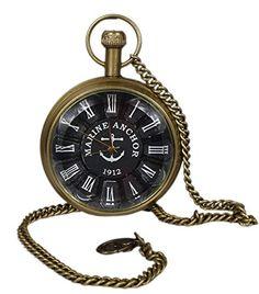 Unisex Antique Case Vintage Brass Rib Chain Quartz Pocket Watch For Men Women - 1.8 Inch RoyaltyLane http://www.amazon.com/dp/B01C6XP9MM/ref=cm_sw_r_pi_dp_fNN3wb08XHWKB