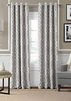 Elrene Harper 52-in. x 84-in. Blackout Window Panel   belk Contemporary Windows, Contemporary Curtains, Room Divider Doors, Blackout Windows, Blackout Curtains, Vintage Curtains, Dark Furniture, Drapes Curtains, Curtains Living