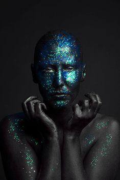 Black glitter body makeup by Helle Navratil Photography Body Makeup, Creative Portraits, Black Glitter, Halloween Face Makeup, Photography, Photograph, Fotografie, Photoshoot, Fotografia