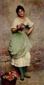 The Flower Seller - (Eugene De Blaas)