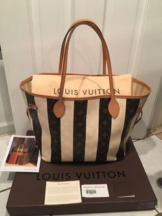 Louis Vuitton ~ Monogram Rayures Neverfull MM  Limited Edition ~ Rare  Louis 15621fa55c592