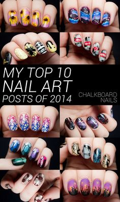 My Top 10 Favorite Nail Art Posts of 2014 by @chalkboardnails