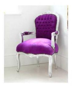 Royal Purple Armchair