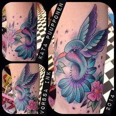 https://www.facebook.com/VorssaInk/, http://tattoosbykata.blogspot.com, #tattoo #tatuointi #katapuupponen#vorssaink #forssa #finland #traditionaltattoo #suomi #oldschool #pinup #hummingbird