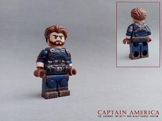 CAPTAIN AMERICA(Nomad) | by SITW CUSTOM Lego Deadpool, Lego Marvel, Marvel Art, Lego Custom Minifigures, Lego Chima, Captain America Nomad, Lego Army, Lego Spaceship, Lego Pictures