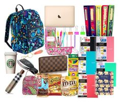 """What's in My Backpack"" by preppy-pearlgirl ❤ liked on Polyvore"
