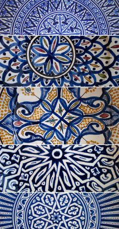 Blue Moroccan tiles: this site also has other great images of Moroccan tile work…