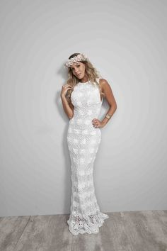 Vestido de noiva de crochê - Veja como fazer ~ Armarinho São José