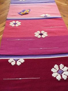 Rose rug handwoven wool rug handmade with love by by RugsNBags