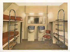 Art Deco Modes of Transportation House Of Savoy, Robert Mallet Stevens, American Line, Artist Materials, Streamline Moderne, French Architecture, Tubular Steel, Cabin Design, Monogram Design