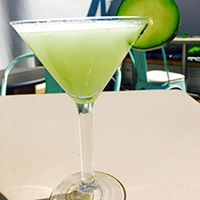 Cucumber+basil+martini