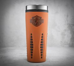 Take the spirit of the road with you on your morning commute. | Harley-Davidson Bar & Shield Logo Travel Mug