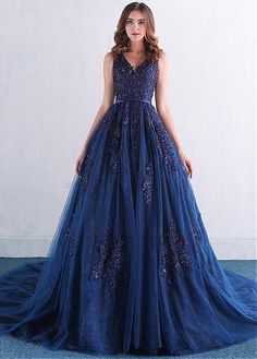 Buy discount Attractive Tulle V-neck Neckline Ball Gown Quinceanera Dresses  With Beaded Lace Appliques efbcd96789c9