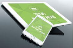 iPhone and iPad Closeup Mockup Template   ShareTemplates