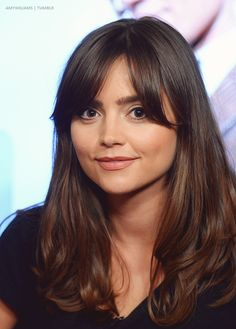 Post- wedding bangs!! Jenna Louise Coleman #inspirationalbangs #hair