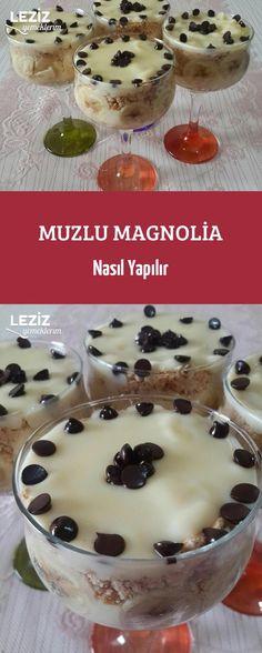 Muzlu Magnolia Nasıl Yapılır Recipies, Deserts, Food And Drink, Pudding, Sweets, Cooking, Breakfast, Magnolias, Fashion