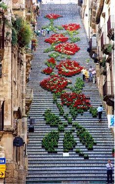 Montepulciano, neben der wunderschön geschmückten Treppe im Zentrum bekannt für seine aussergewöhnlichen Weine