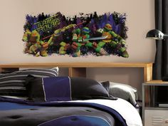 Teenage Mutant Ninja Turtle Trouble Graphix Peel and Stick Wall Decals 18 x 40in -- Read more  at the image link. (This is an affiliate link and I receive a commission for the sales)