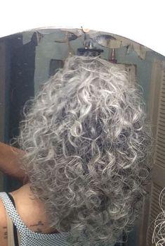 My hair! Yep, curly and gray! My hair! Yep, curly and gray! My hair! Yep, curly and gray! Grey Hair Don't Care, Grey Curly Hair, Long Gray Hair, Curly Hair Cuts, Short Curly Hair, Curly Hair Styles, Pelo Color Plata, Silver White Hair, Gray Hair Growing Out