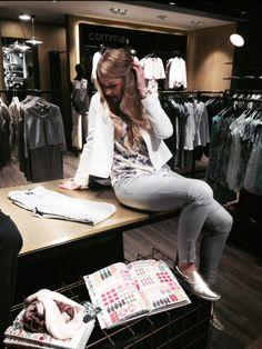 How to wear #BIKER DENIM: Jeans - Blue Fire, Blazer & Top - Opus #fashion #stylingtutorial  www.mensing.com