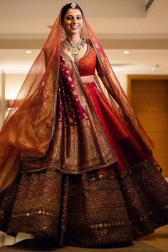 The Bridal Lehenga store lends time, quality and variations, to contemplate the right choice. Also, worldwide shipping is available. Sabyasachi Lehenga Bridal, Indian Bridal Lehenga, Indian Bridal Outfits, Indian Bridal Fashion, Indian Fashion Dresses, Banarasi Lehenga, Lengha Choli, Bridal Dresses, Indian Gowns