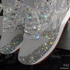 🛒SHOP NOW🛒Fashion Rhinestone Decorative Mesh Breathable Source by latricemichelle shoes Sparkle Shoes, Bling Shoes, Pretty Shoes, Cute Shoes, Diamond Shoes, Color Combinations For Clothes, Baskets, Sneakers Fashion Outfits, Adidas Shoes Women