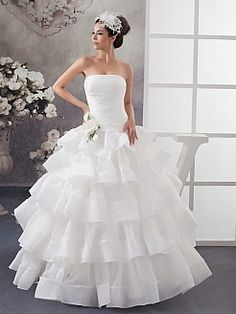 Marghretta - Φόρεμα Μπάλα Πάτωμα-μήκους Σατέν Νυφικό - EUR 167,33€