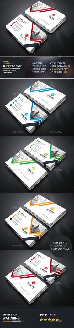 Business Card Design - Business Cards Template PSD. Download here…