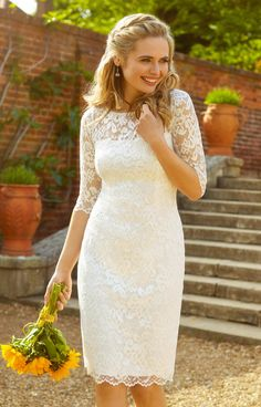 Dress Lila Wedding Dress Short Ivory - Wedding Dresses, Evening Wear and Party Clothes by Alie Street.Lila Wedding Dress Short Ivory - Wedding Dresses, Evening Wear and Party Clothes by Alie Street. Courthouse Wedding Dress, Short Lace Wedding Dress, Civil Wedding Dresses, White Wedding Dresses, Wedding Dress Styles, Bridal Dresses, Wedding Gowns, Reception Dresses, 2nd Marriage Wedding Dress