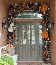 did you know you can use your green garland from christmas as your base for decorating your door for save yourself some money on the garland