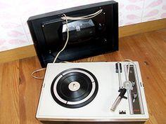 tourne disques vintage courroie ann e 1970 et philips. Black Bedroom Furniture Sets. Home Design Ideas