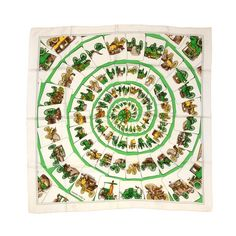 Hermes scarf - Washington's Carriage | From a collection of rare vintage scarves at http://www.1stdibs.com/fashion/accessories/scarves/