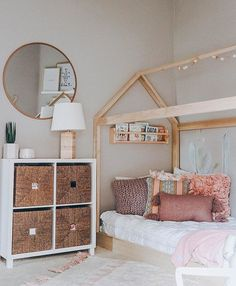 House Bed Frame Twin Full or Queen Made in US image 1 Big Girl Bedrooms, Little Girl Rooms, Girls Bedroom, Girl Toddler Bedroom, Bedroom Ideas, Master Bedroom, Baby Room Decor, Nursery Room, Toddler Room Decor