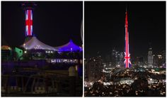 Buildings Worldwide Are Being Lit In Red, White And Blue For Manchester