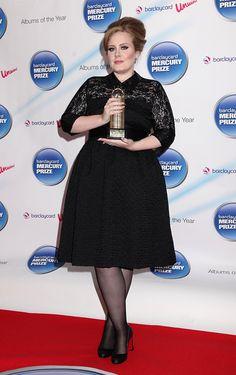 adele knee length black dress