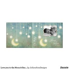 Shop Love you to the Moon & Back Sparkling Stars Baby Binder created by JoSunshineDesigns. Sparkling Stars, Binder Inserts, Binder Design, Custom Binders, Photo Quality, Baby Cards, Beautiful Babies, Home Gifts