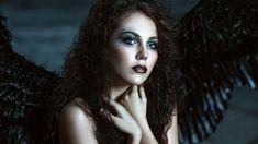 Angel with black wings. Pretty girl-demon with black wings behind her back , Vampire Romance Books, Paranormal Romance Books, Dark Artwork, Beautiful Book Covers, Black Wings, Dark Photography, Pretty Girls, Photo Editing, Deviantart