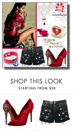 """""""Macadamia Jewels-1"""" by dzemila-c ❤ liked on Polyvore featuring Casadei and Topshop"""