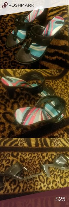 Connie Heeled Sandals Black Size 9.5 Connie Heeled Sandals Black Size 9.5 Connie Shoes Sandals