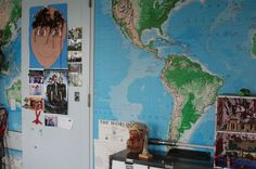 World map wallpaper Big Boy Bedrooms, World Map Wallpaper, Room Tour, Playroom, Beautiful Homes, Nursery, Tours, Explore, Adventure