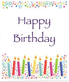 print happy birthday card