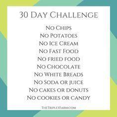 30 Day Challenge My Weight Loss Journey The Triplet Farm thetripletfarm.com
