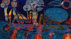 Painting the stories of the stars - Arone Meeks Australian Painting, Stippling, Aboriginal Art, Source Of Inspiration, Art Google, Art Gallery, Symbols, Art Prints, Stars