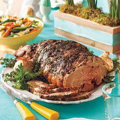 Garlic-Herb Roast Leg of Lamb #recipe