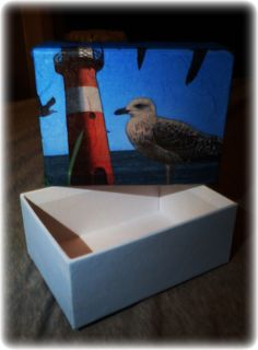 Use napkins and decoupage glue to make your own stile on the box.