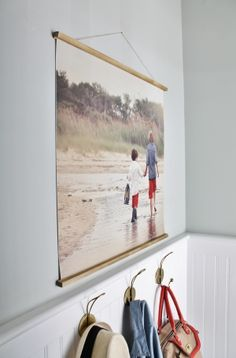 Easy DIY Frame With Large Photo-Mudroom Vignette - Copy