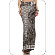 Mandala Print Maxi SkirtToday Only  Beautiful Mandala maxi skirt, ankle length, very comfortable and has a great feel. Hand wash cold. Hang dry. Cool iron. ❗️Last One❗️2XL Boutique Skirts Maxi